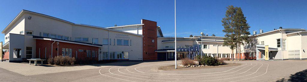kuvassa Frosteruksen koulurakennus
